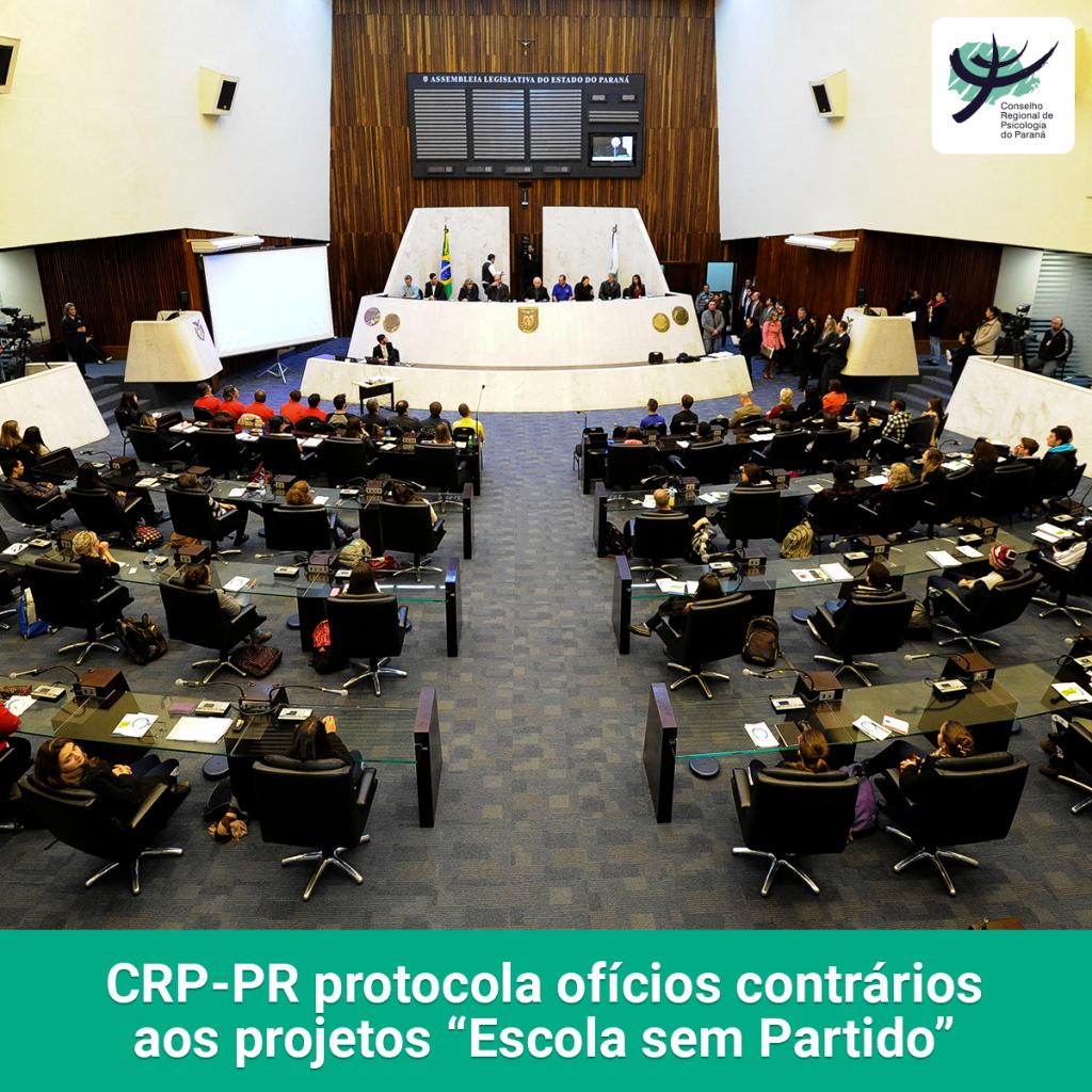 """CRP-PR protocola ofícios contrários aos projetos referentes à """"ideologia de gênero"""" e """"Escola sem Partido"""""""