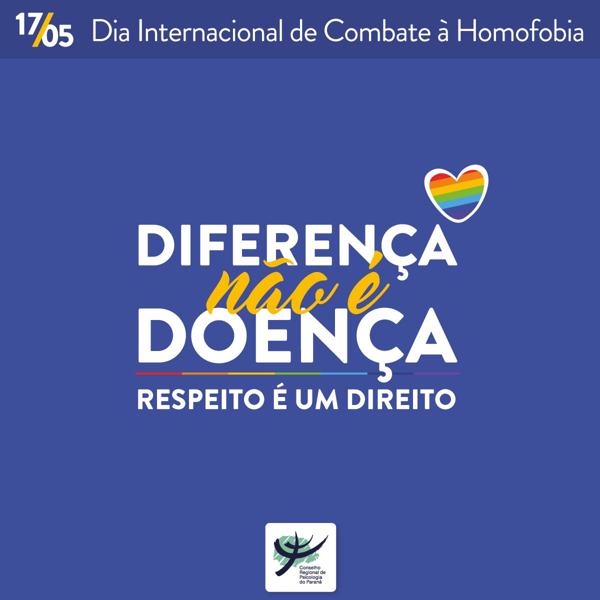 Dia Internacional de Combate à Homofobia: Psicologia deve promover respeito a todas as pessoas
