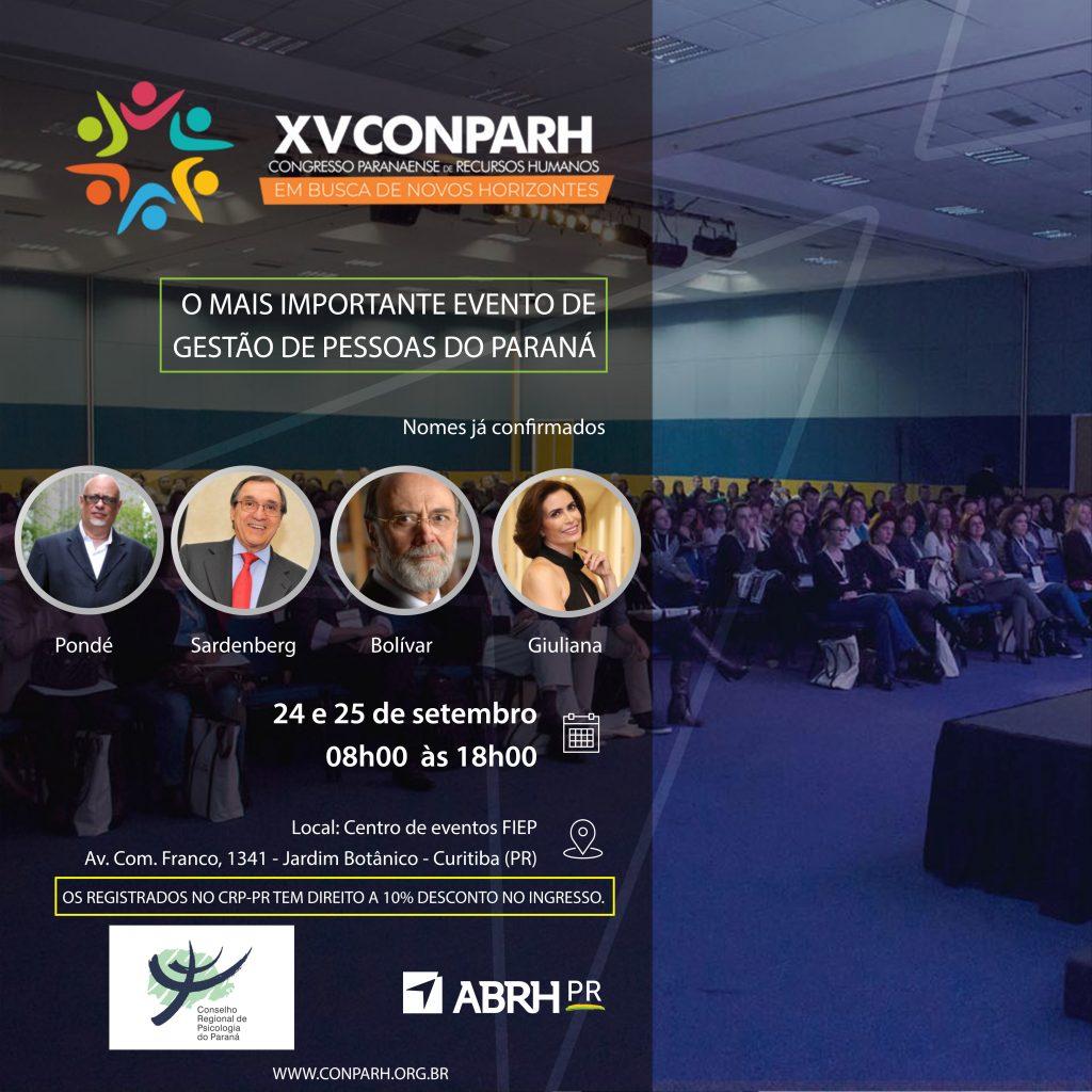 XV CONPARH - Congresso Paranaense de Recursos Humanos: em busca de novos horizontes