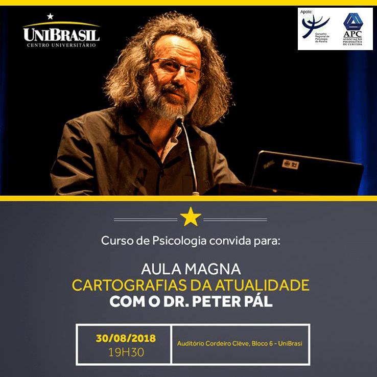 UniBrasil terá Aula Magna de Psicologia com Peter Pál Pelbart