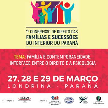 1º Congresso de Direito das Famílias e Sucessões do interior do Paraná