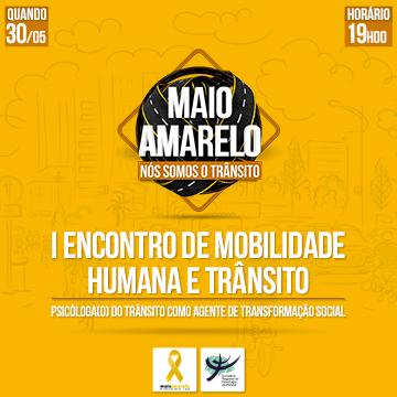 I Encontro de Mobilidade Humana e Trânsito de Londrina: a(o) Psicóloga(o) do Trânsito como agente de transformação social