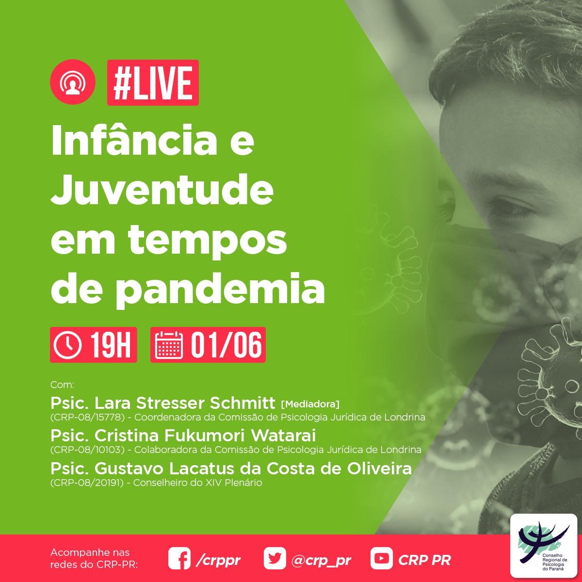 Live | Infância e Juventude em tempos de pandemia