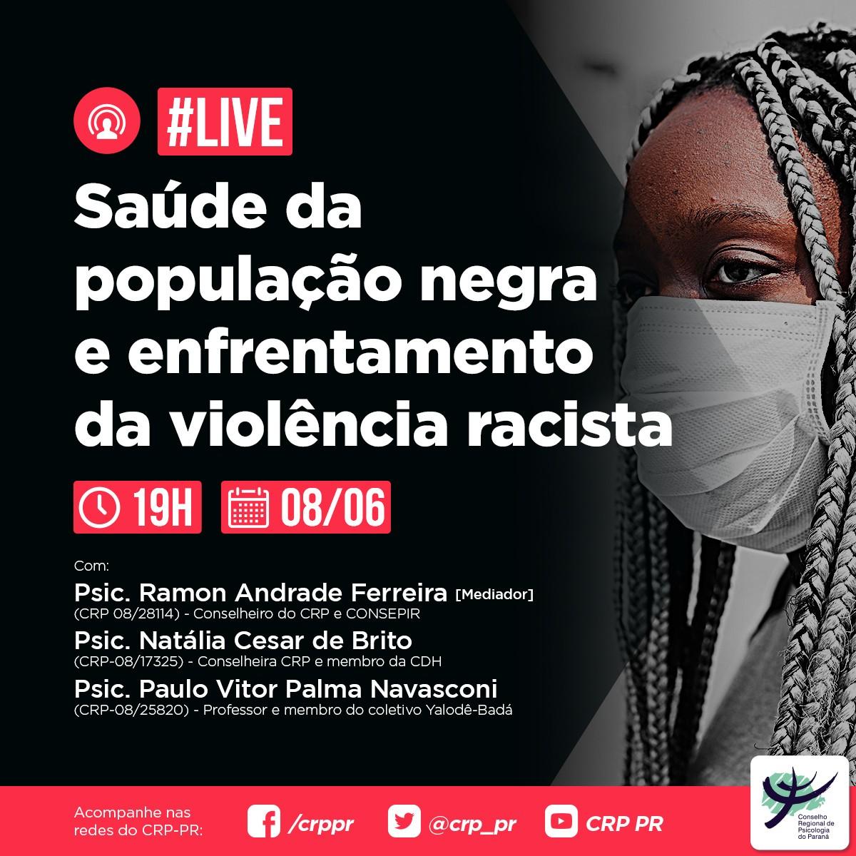 Live | Saúde da população negra e enfrentamento da violência racista