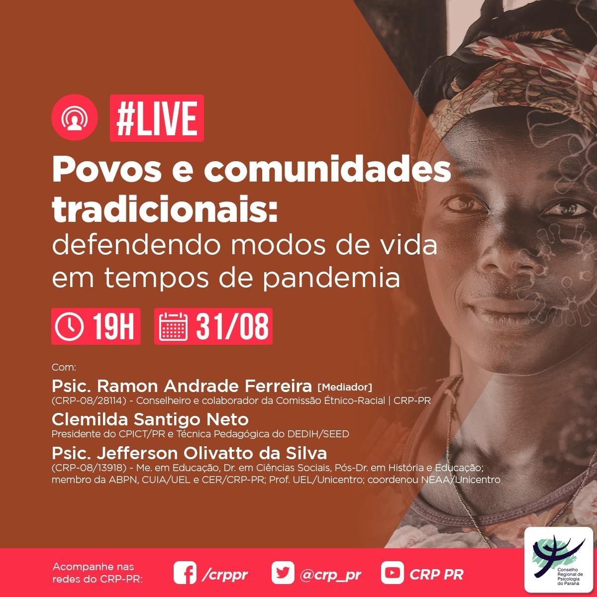 Live | Povos e comunidades tradicionais: defendendo modos de vida em tempos de pandemia
