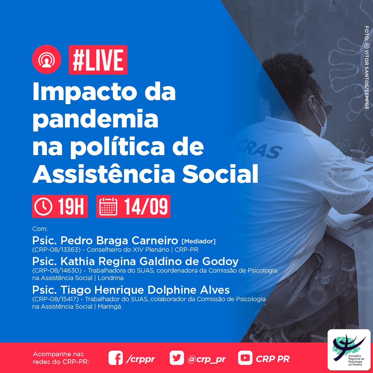 Live | Impacto da pandemia na política de Assistência Social