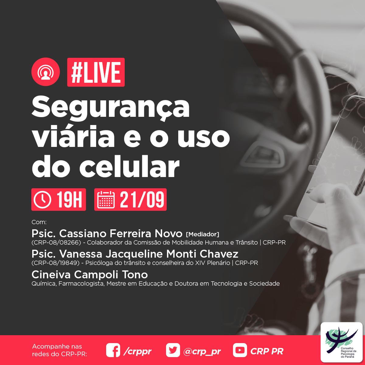 Live | Segurança viária e o uso do celular