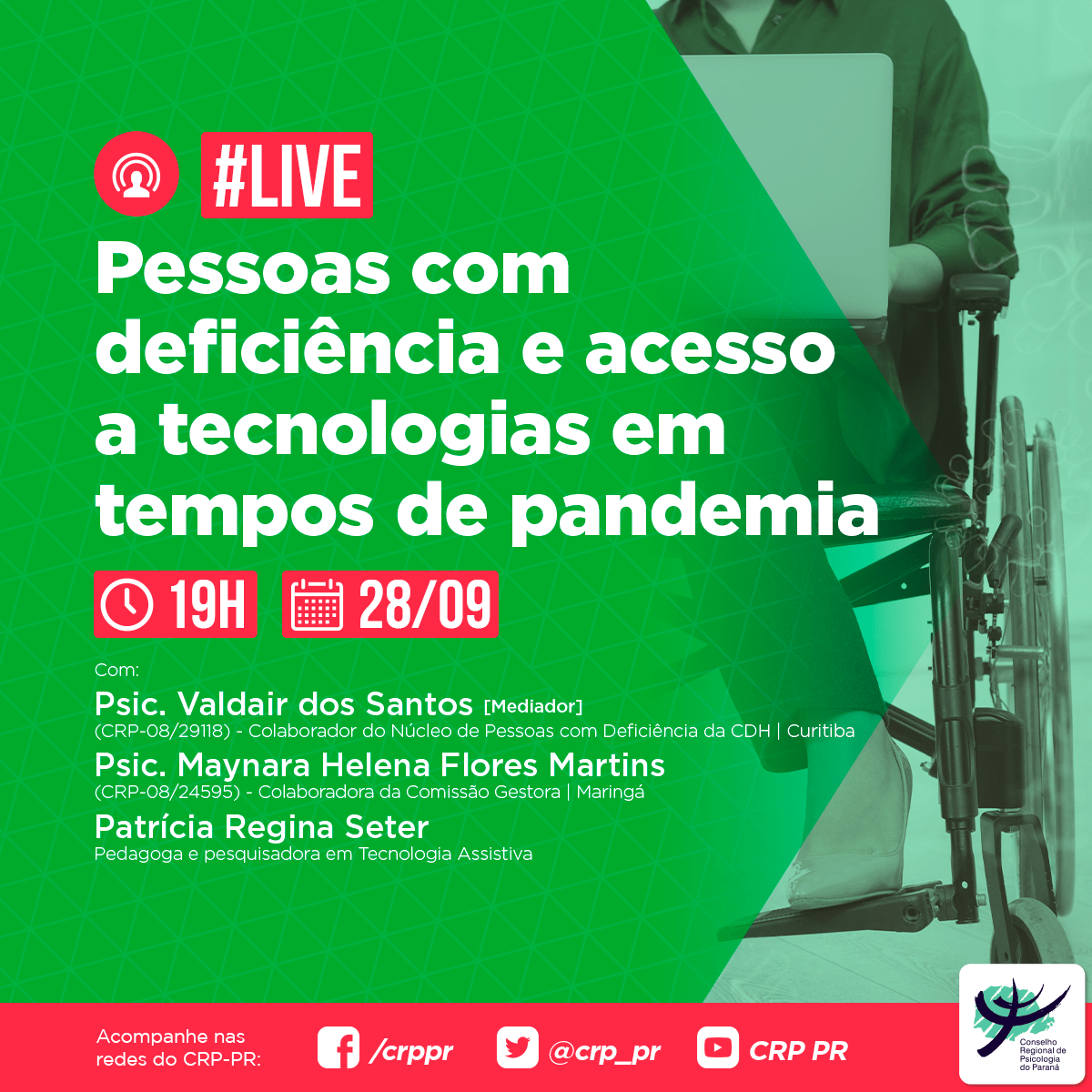 Live | Pessoas com deficiência e acesso a tecnologias em tempos de pandemia